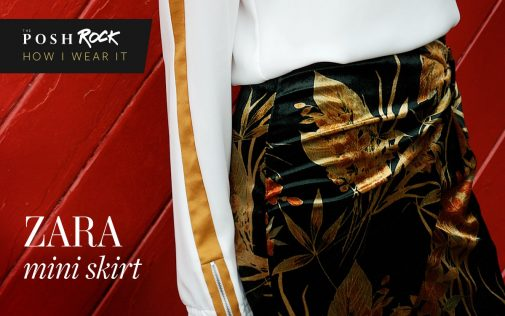 Zara mini skirt How I wear it: