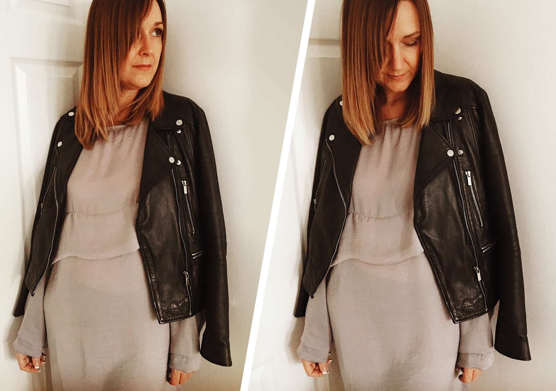 Dawn wears Missguided- Satin Grey Dress
