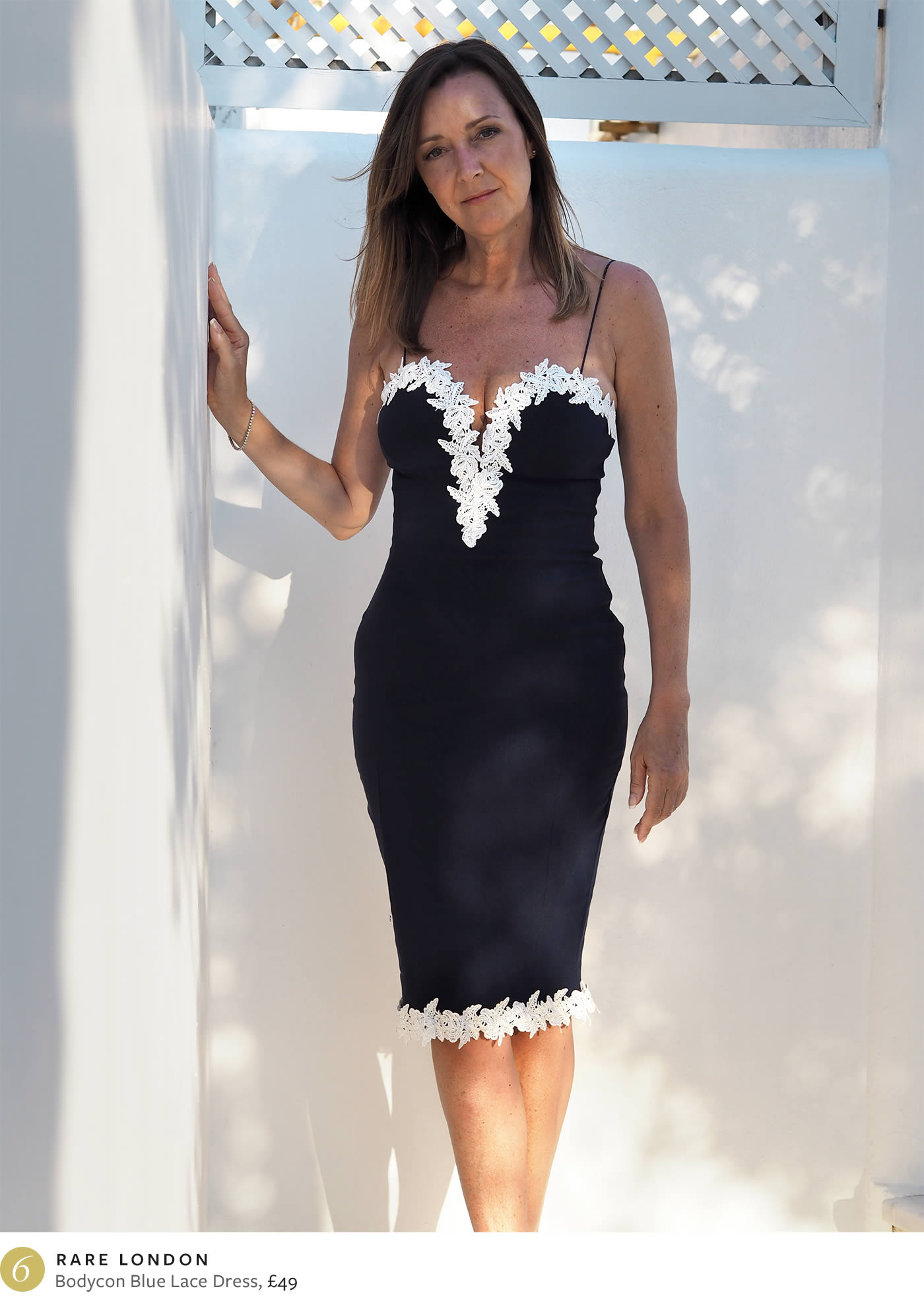 Ten days in Mykonos - Dare London Bodycon dress