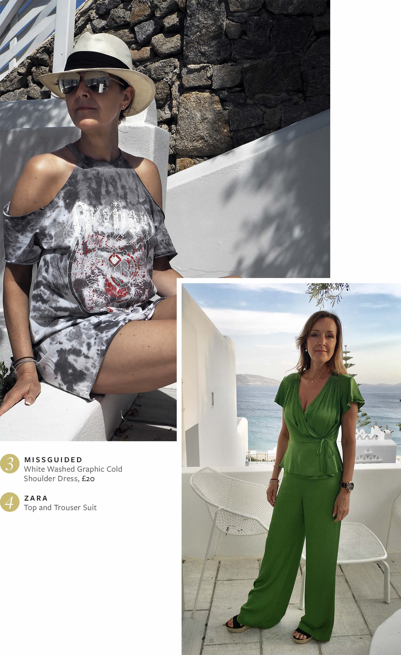 Ten days in Mykonos - Missguided and Zara