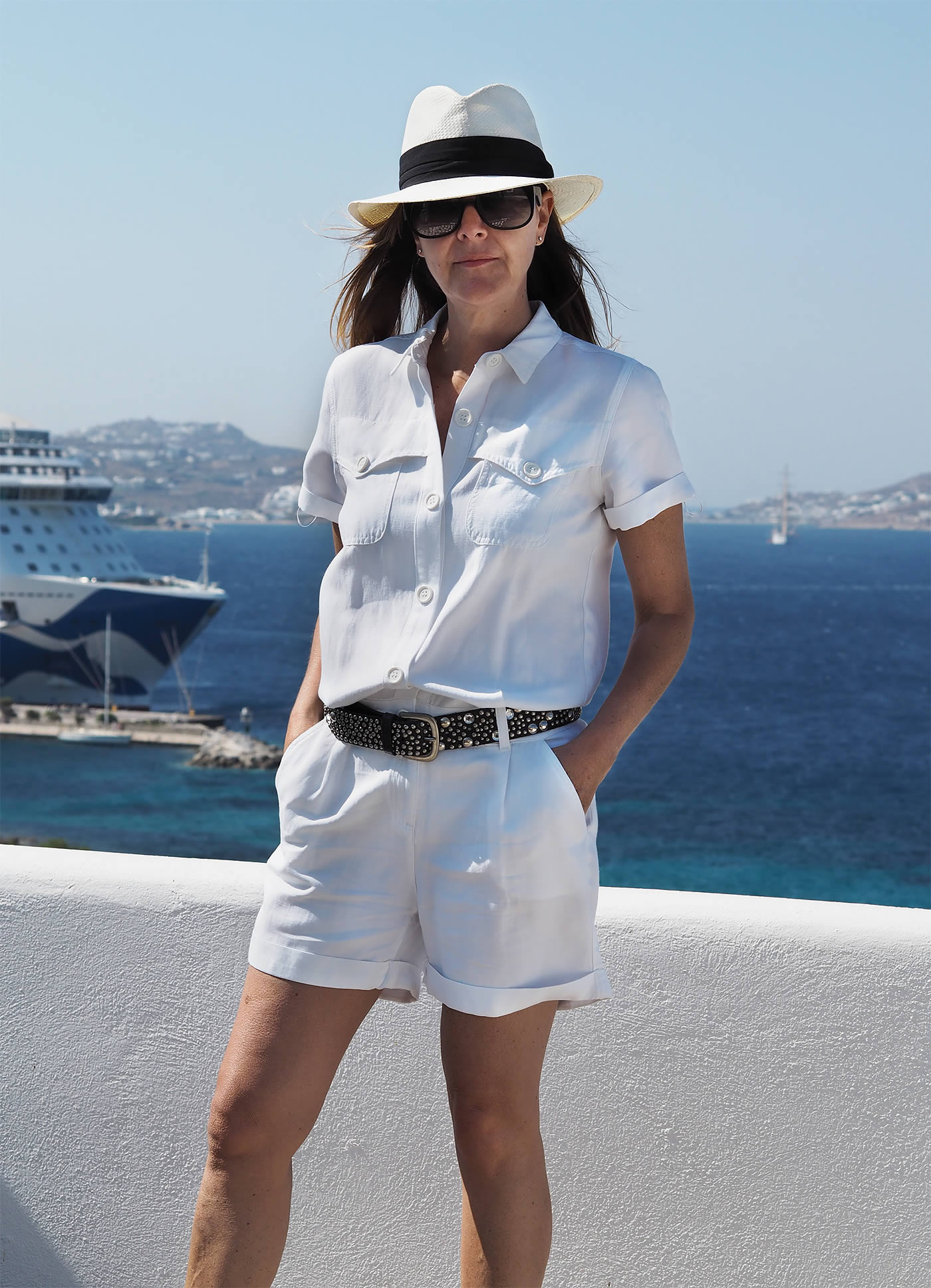 How to wear summer whites - Trilby Hat and shorts