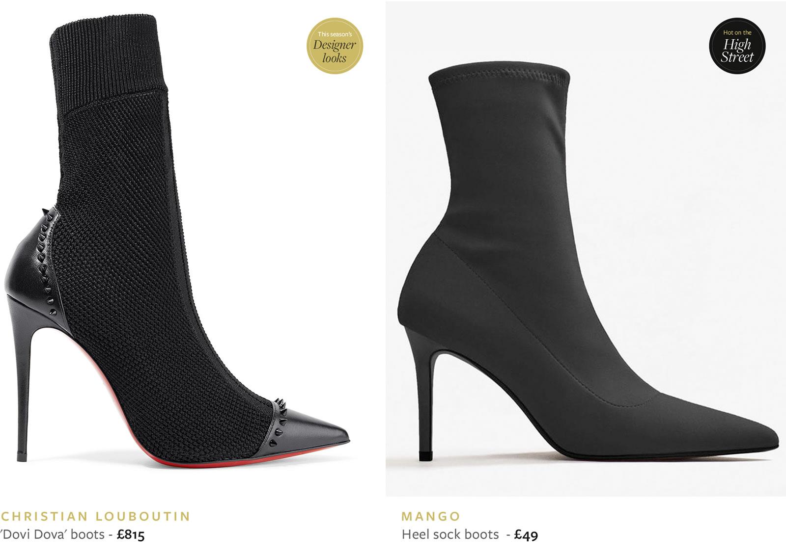 2019 Luxury Brand Studded Sock Boots
