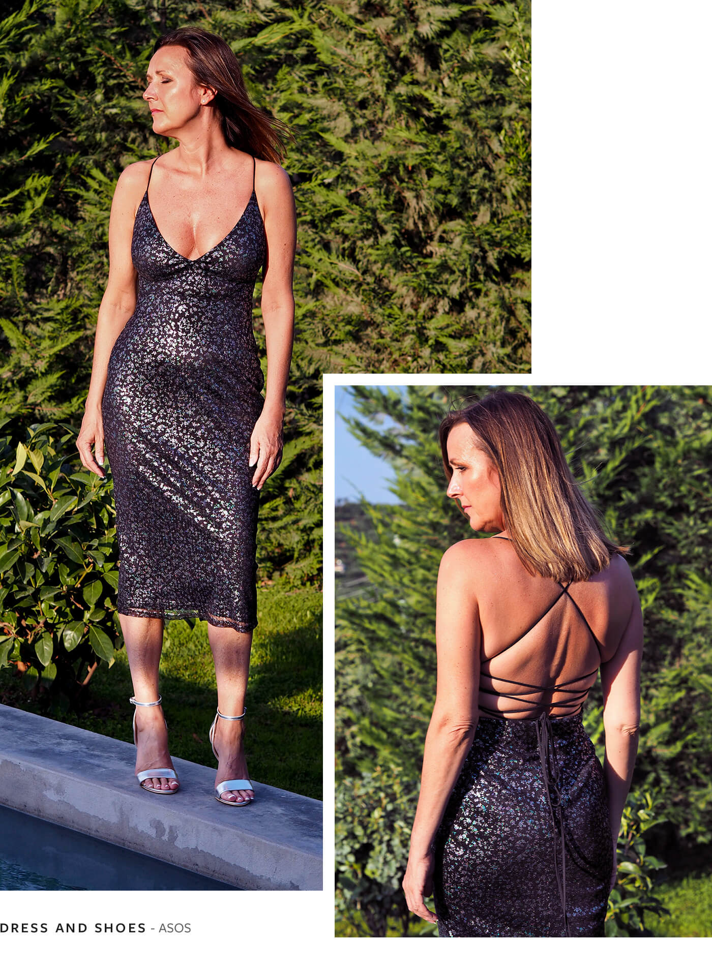 ASOS Black Shimmer Dress