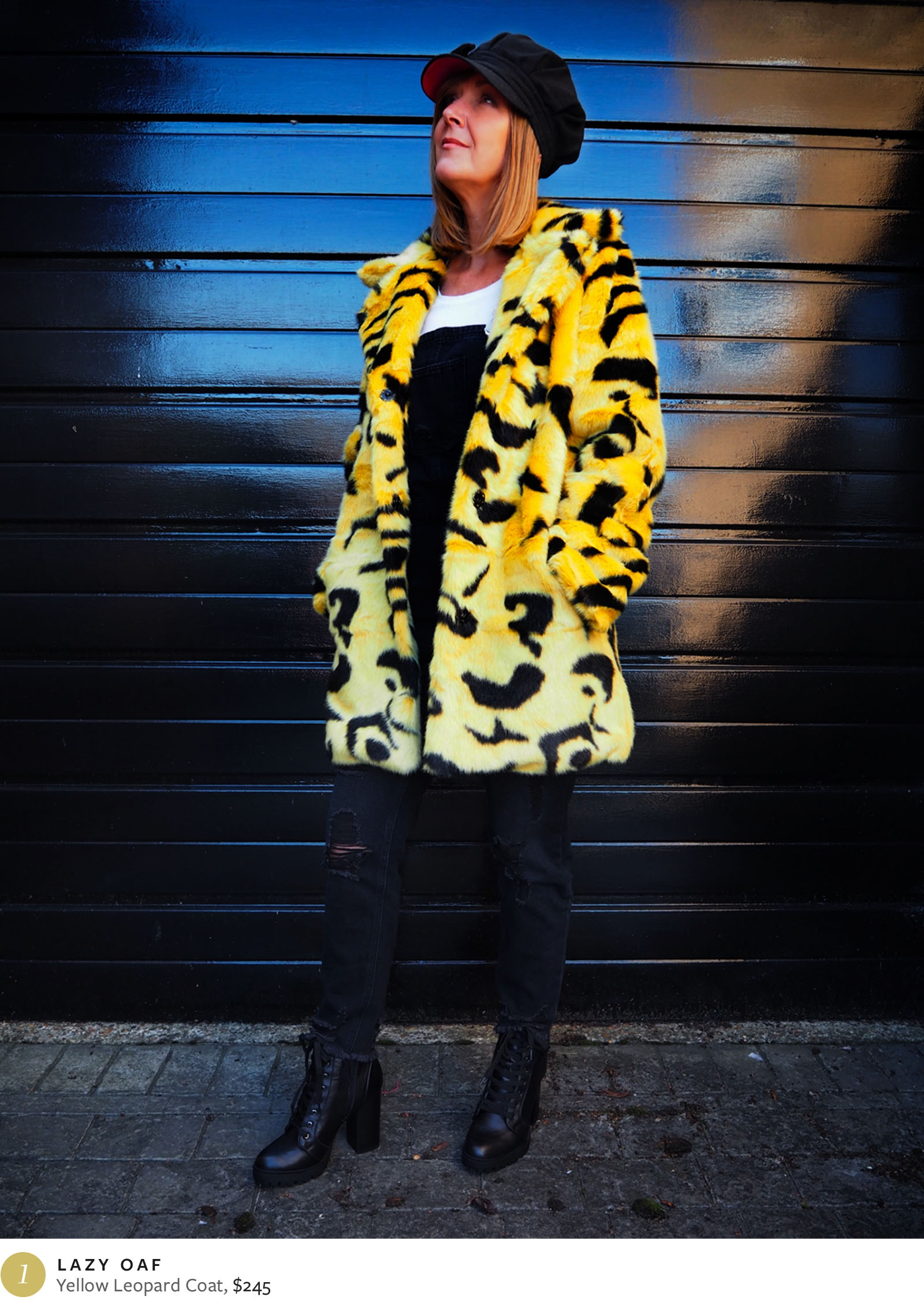 Lazy Oaf Yellow Leopard Parka - Dawn